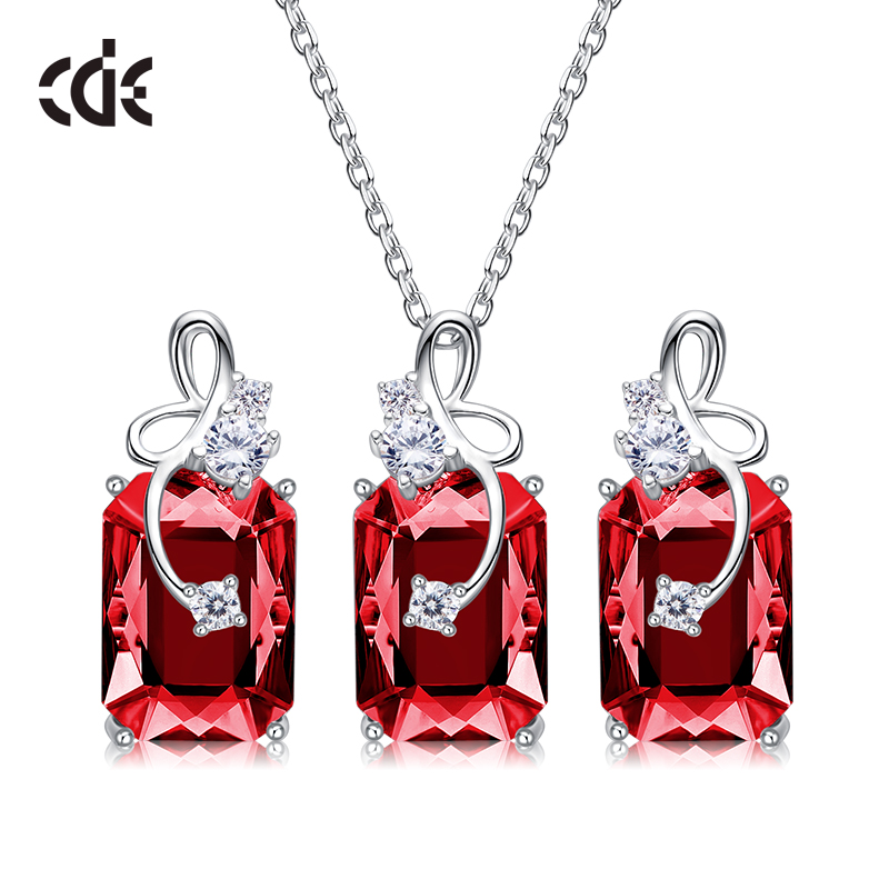 CDE 925 Sterling Silver Jewelry Set Women Embellished with crystals from Swarovski Luxury Dragonfly Jewelry Sets Romantic GiftCDE 925 Sterling Silver Jewelry Set Women Embellished with crystals from Swarovski Luxury Dragonfly Jewelry Sets Romantic Gift