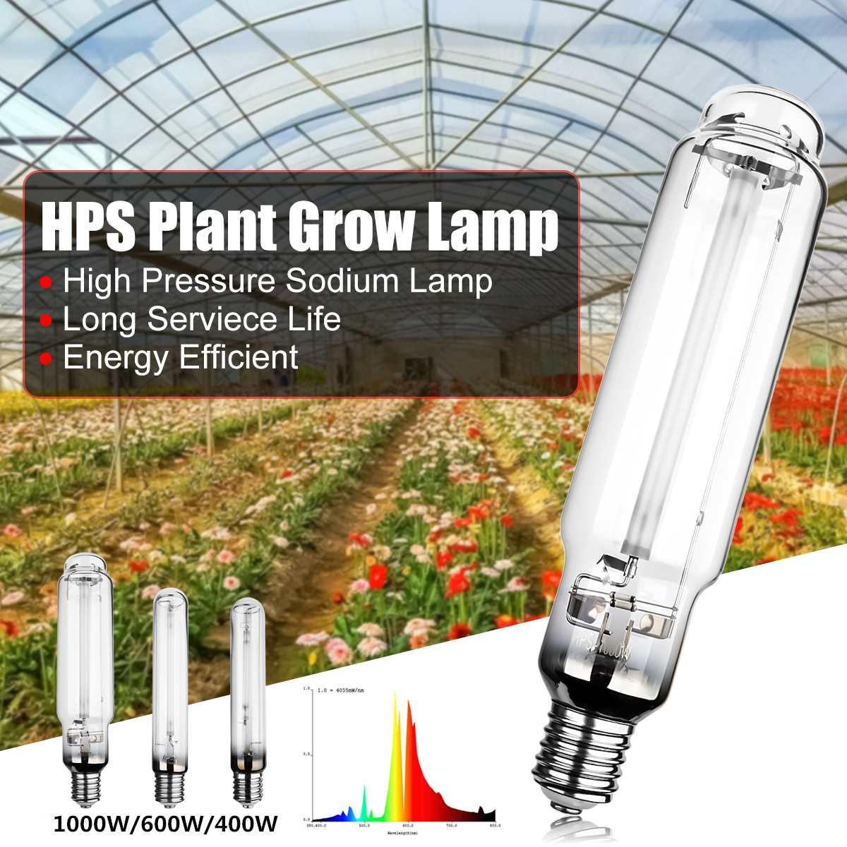 Lámpara de sodio de alta presión HPS planta crece la lámpara 400 W 600 W 1000 W E40 23Ra energía eficiente servicio de larga la vida de 23000 horas