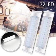 1 шт 24 V светодиодный свет бар 10 W 72 светодиодный Белый свет трубка с переключателем для грузовик RV Лодка внутренняя световая панель трубка Газа лампа