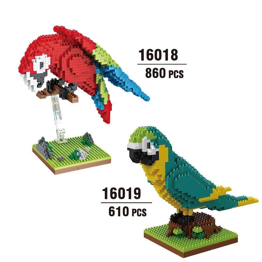 Balody Mini blöcke Nette Vogel Modell Gebäude Ziegel Papagei Puppe Spielzeug Anime Juguetes Geschenke für Kinder 16019
