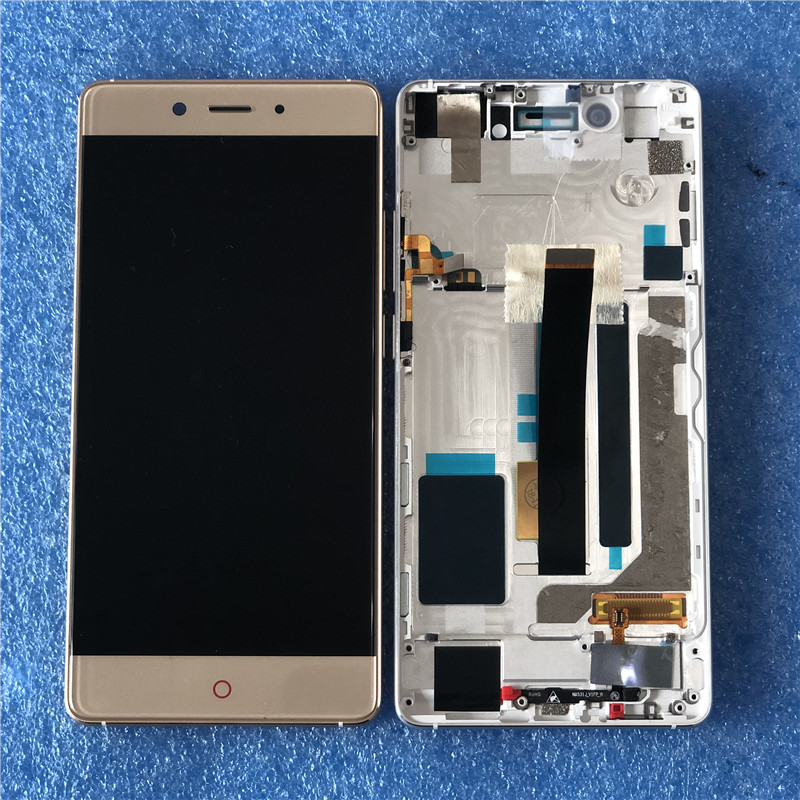 Original Axisinternational LCD Frame For 5 5 ZTE Nubia Z11 NX531J LCD Screen Display With Frame