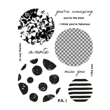 Circles Sentiments Transparent Clear Silicone Stamp/Seal for DIY scrapbooking/photo album Decorative clear stamp