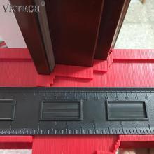 Plastik düzensiz şekillendirici profil cetvel ölçer teksir kontur ölçekli şablon eğrilik ölçekli döşeme laminat genel araçlar