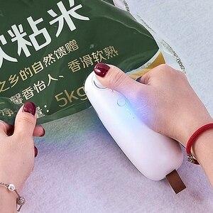 Image 5 - Carregamento usb portátil aquecimento saco de plástico máquina selagem sem fio handheld vácuo máquina selagem de alimentos