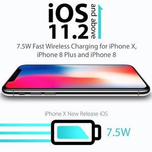 Image 2 - Qi Беспроводное зарядное устройство для автомобильного телефона, держатель для быстрой зарядки, нескользящий коврик для IPhone XS MAX XR Huawei Xiaomi