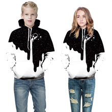 Купить с кэшбэком Children's clothing spring autumn Europe the United States 3d digital printing hooded long-sleeved sweater sports baseball shirt