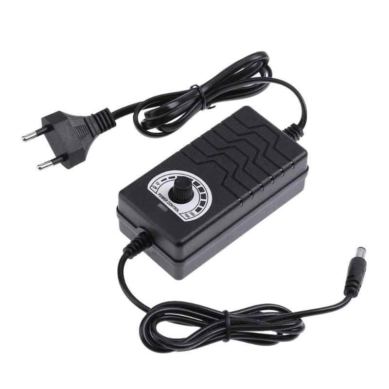 JNT0124 Adjustable Switching Power Adapter AC to DC Adapter 3V-24V 2A 48W Power Supply Motor Speed Controller for Motor Drill