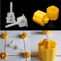 바닥 레벨링 시스템 플라스틱 포지셔닝 버클 타일 커버 도구 50 커버 + 100 크로스 스페이서 플라스틱 바닥 도구 키트