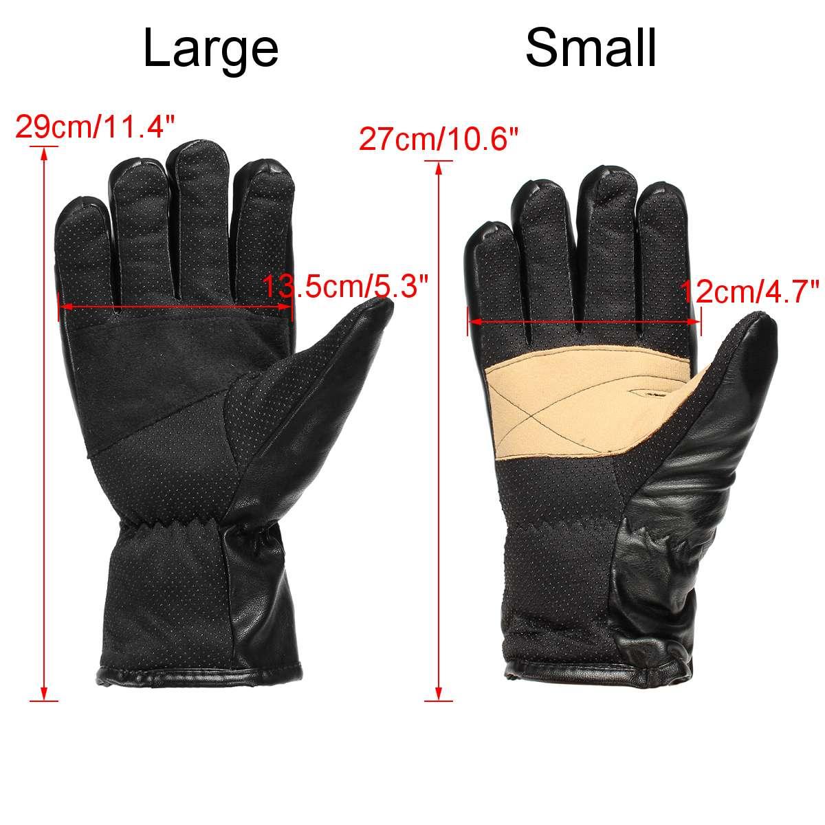 Gants chauffants électriques d'hiver PU cuir femmes hommes Rechargeable 3000 mAh batterie mitaines chauffantes chaudes intérieur épaissir gants en coton - 4