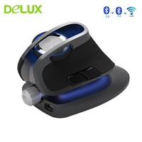 Delux M618X Vertical Wireless Bluetooth 3.0 4.0 Mouse 2.4Ghz Ergonomic Rechargeable Laser Mause 6D Dual Mode Usb Computer Mice