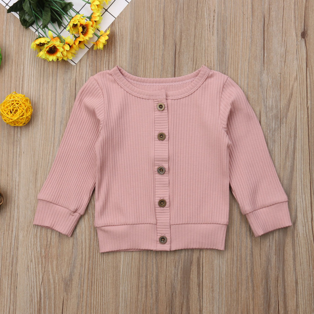 Newborn Infant Baby Girls Boys Autumn Winter Jacket Coat Tops Long Sleeve Single Breasted Solid Cardigan Coat 5 Colors