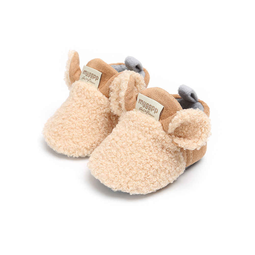 อีสเตอร์เด็กวัยหัดเดินทารกแรกเกิดคลานรองเท้าเด็กสาว Lamb รองเท้าแตะ Prewalker Trainers ขนสัตว์ฤดูหนาวสัตว์หู First Walker
