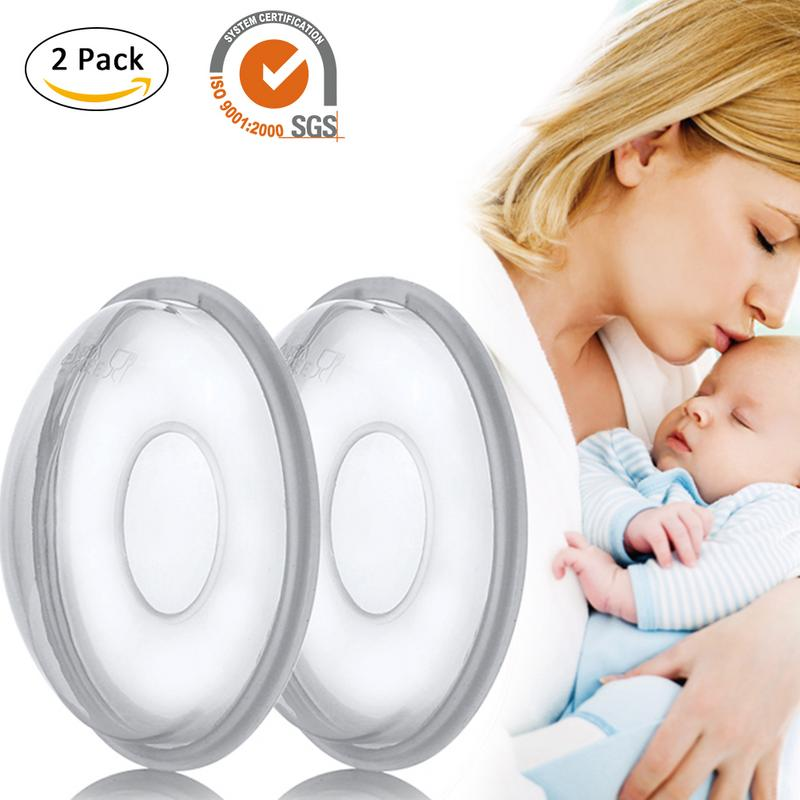2 PCS Reusable Silicone Breastfeeding Protect Sore Nipples For  Collect Breastmilk For Nursing Moms Anti-Overfill Breast Pad