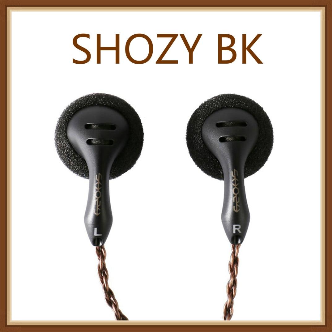 SHOZY Stardust BK (Black) High Fidelity Quality Hi-Fi Flat Monitor DJ Earphones Earbuds 2.5mm/3.5mm Connector Balanced Output