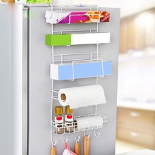 купить Refrigerator Rack Side Shelf Sidewall Holder Multifunctional Shelf Wall Hanging Storage Rack Multi-layer Kitchen Side Shelf Rack по цене 1086.99 рублей