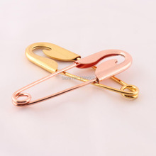 5pcs/lot 98mm Gold and Rose Color Large Brooch Safety Pins Top Quality for garment
