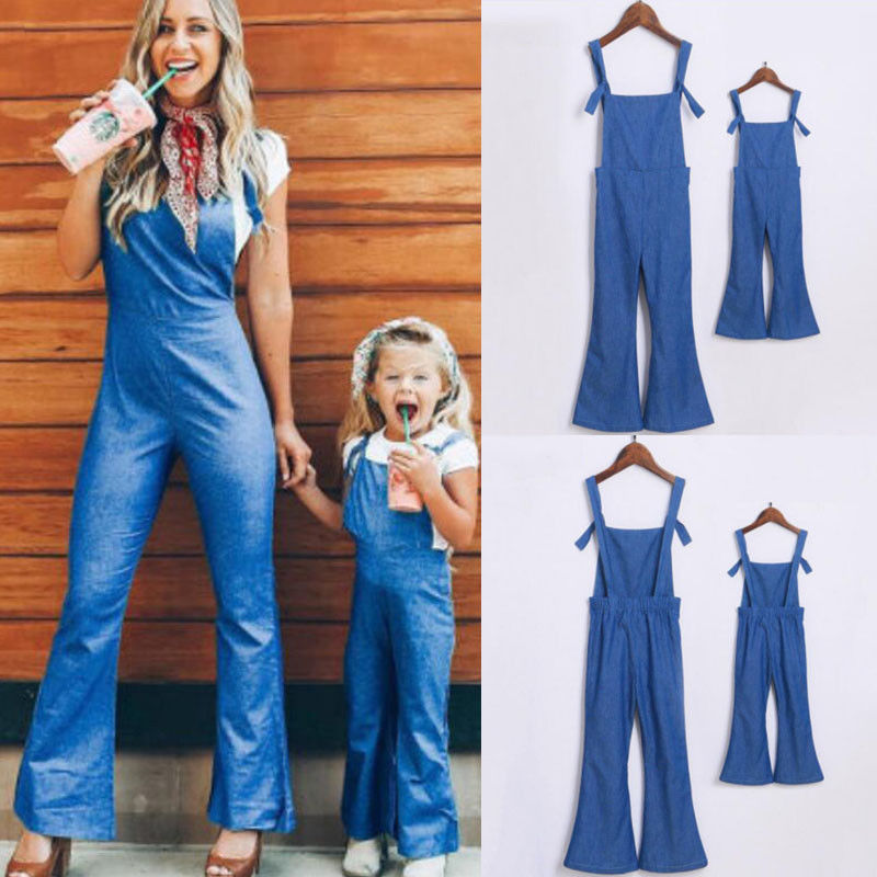 Reliable 2019 Family Match Denim Playsuit Mother Daughter Women Casual Summer Playsuit Dress Party Jumpsuit Romper Trousers Shorts Mother & Kids