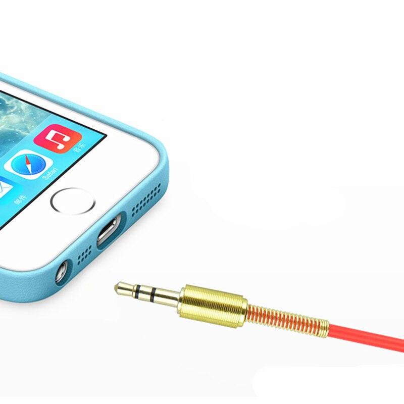 Trumsoon 5pcs 3.5mm Jack AUX Audio Cable Bending plug Aux Cord for Laptop Phone Speaker Car Headset