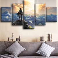 The Legend of Zelda Canvas Posters Home Decor Wall Art Framework 5 Pieces Paintings For Living Room HD Prints Videogame Pictures