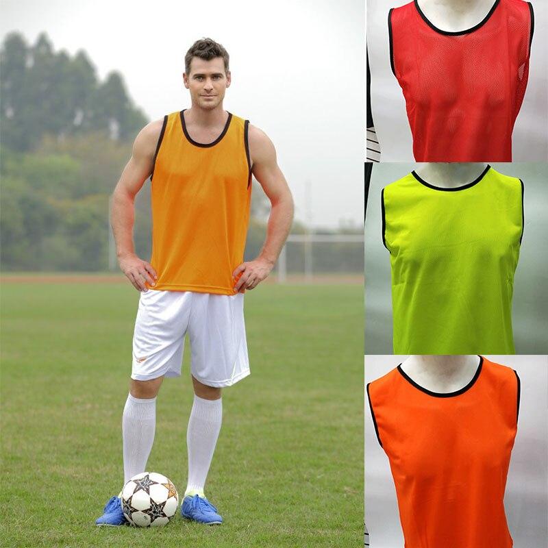 150e8e98844 6 Pcs Adult Sleeveless Soccer Jerseys Football Group Fight Vest Training  Printing Soccer Jersey For Team