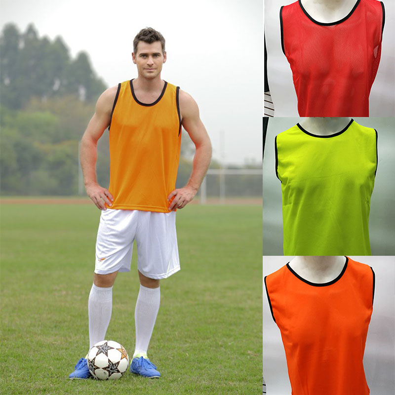 free shipping a9499 e0e3f US $17.56 28% OFF|6 Pcs Adult Sleeveless Soccer Jerseys Football Group  Fight Vest Training Printing Soccer Jersey For Team Shirts Grouping  Shirts-in ...