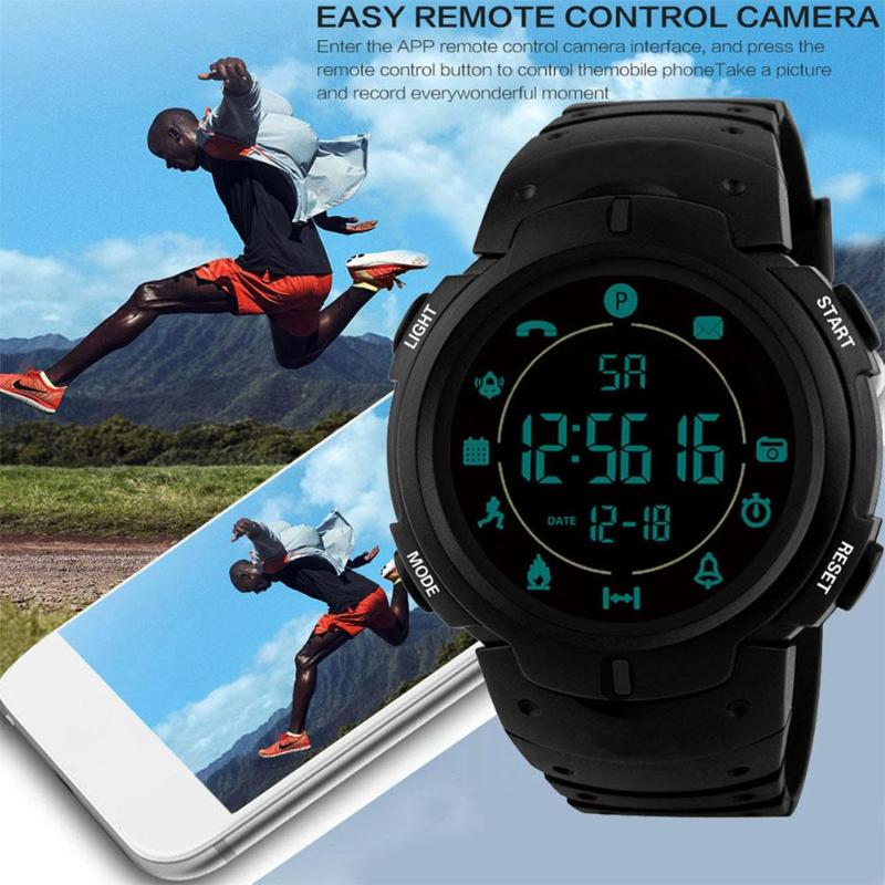 ALLOYSEED Wristwatches Pedometer Bluetooth Sports Smart Waterproof Unisex Resin-Strap