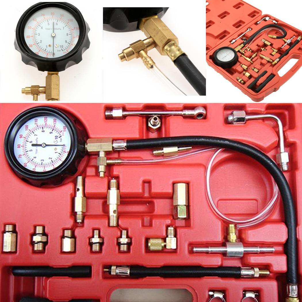 Auto Car Fuel Injection Pressure Gauge Automobile Fuel Pressure Gauge TU 114 Fuel Injector Car Tester Tools set Car Repai Tool