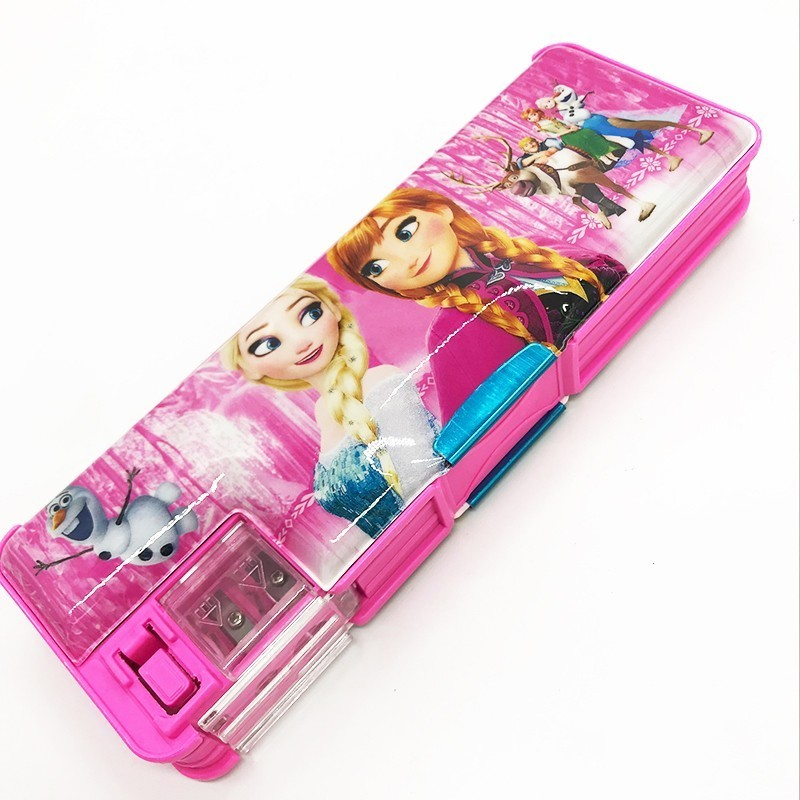 Cartoon Pencil Case Boy Girl Double-sided Adhesive Automatic Creative Stationery Storage Box