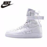 Nike доставка SF; сезон осень зима AF1 Оригинал Новое поступление Для мужчин Скейтбординг обувь с вырезами; большие удобные спортивные кроссовк