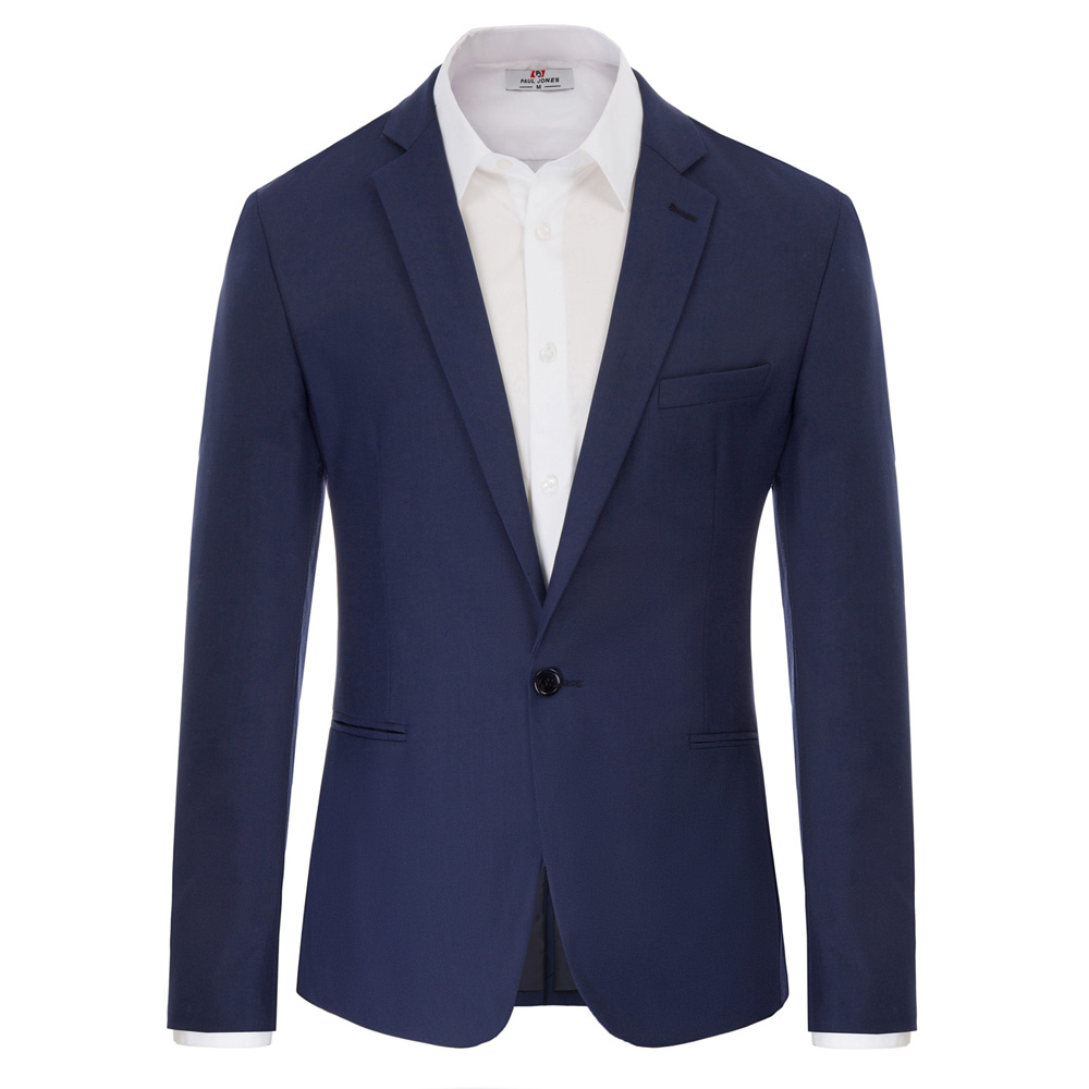 smart casual coat for Men black/navy blue Stylish & Slim Fit Single Breasted One Button Notch Lapel jacket slim office work Coat