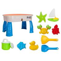 9pcs Portable Beach Sand Toys Set Animals Castle Sand Clay Mold Digging Table Shovel Tools Bath Water Playing Toy