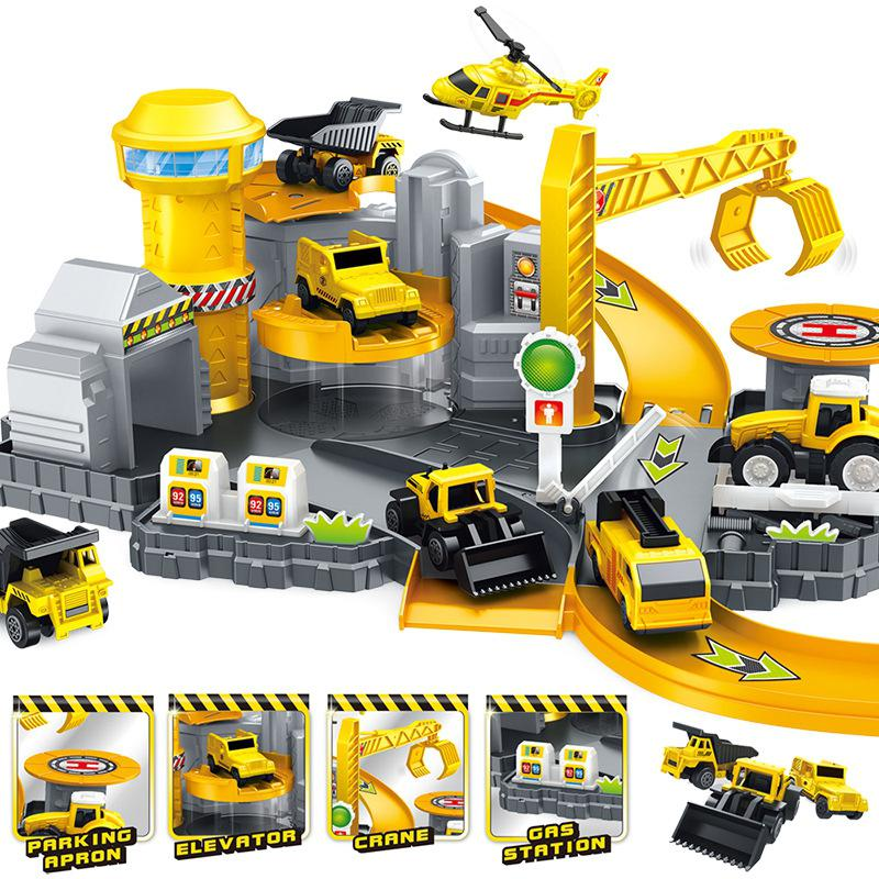 US $6 99 30% OFF|LeadingStar Kids Simulate Cars Plane Parking Lot Set DIY  Engineering Matching Toys-in Diecasts & Toy Vehicles from Toys & Hobbies on