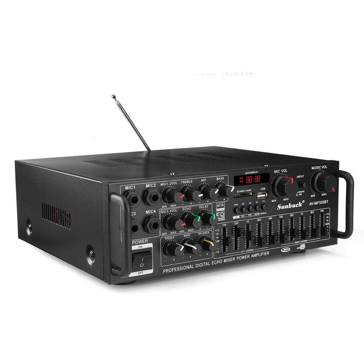 EQ 2000 w 4 ohm 2CH bluetooth Estéreo auriculares bluetooth Digital amplificador de potencia USB 64 GB casa teatro amplificadores - 3