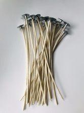 Mechas para velas gruesas hechas a mano, Material de fabricación de velas, sin humo, núcleo de lámpara, mechas enceradas gruesas, nuevo diseño