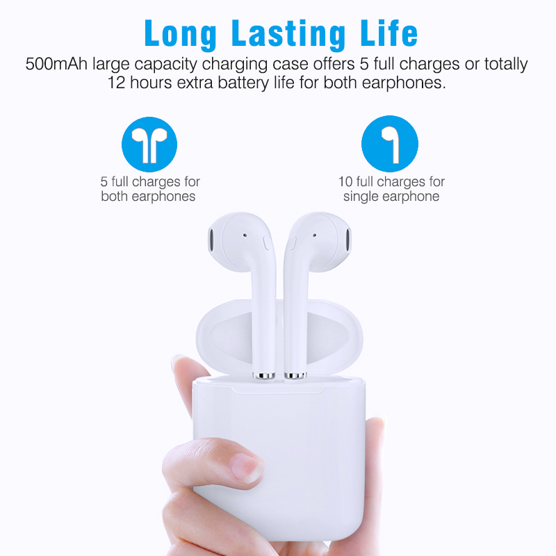 Image 5 - New i9S TWS Mini Bluetooth Earphones Stereo Earphone Wireless Earbuds Headsets Wireless For iphone Android-in Bluetooth Earphones & Headphones from Consumer Electronics