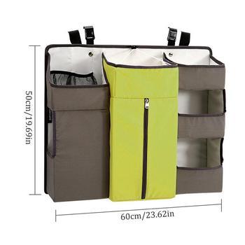прикроватная детская кроватка | Детская кроватка детская кровать подвесной мешок портативный водонепроницаемый подгузники Органайзер прикроватный бампер сумка постельн...