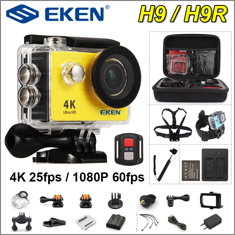 In stock ! EKEN H9R H9 Ultra HD 4K Action Camera 30m Waterproof 1080p Video Recording Sport Camera 2.0′ Screen Helmet Cam