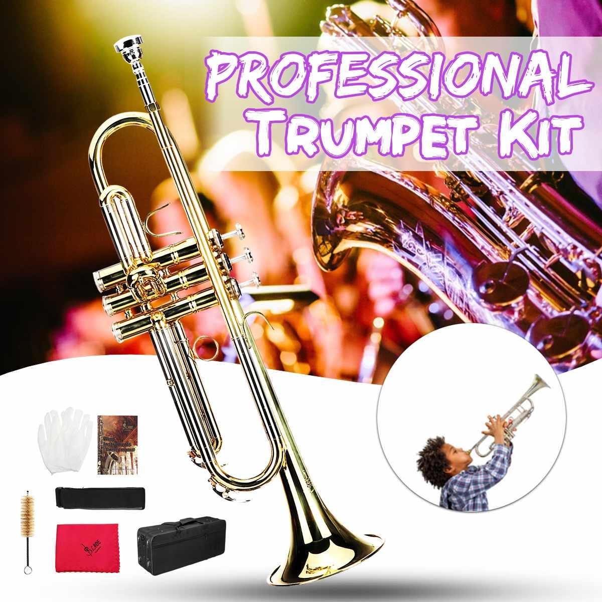 B plat jouets cadeau Instrument de musique trompette accès Bb professionnel trompette Kit laiton bande Instrument avec sac étudiant outil de musique