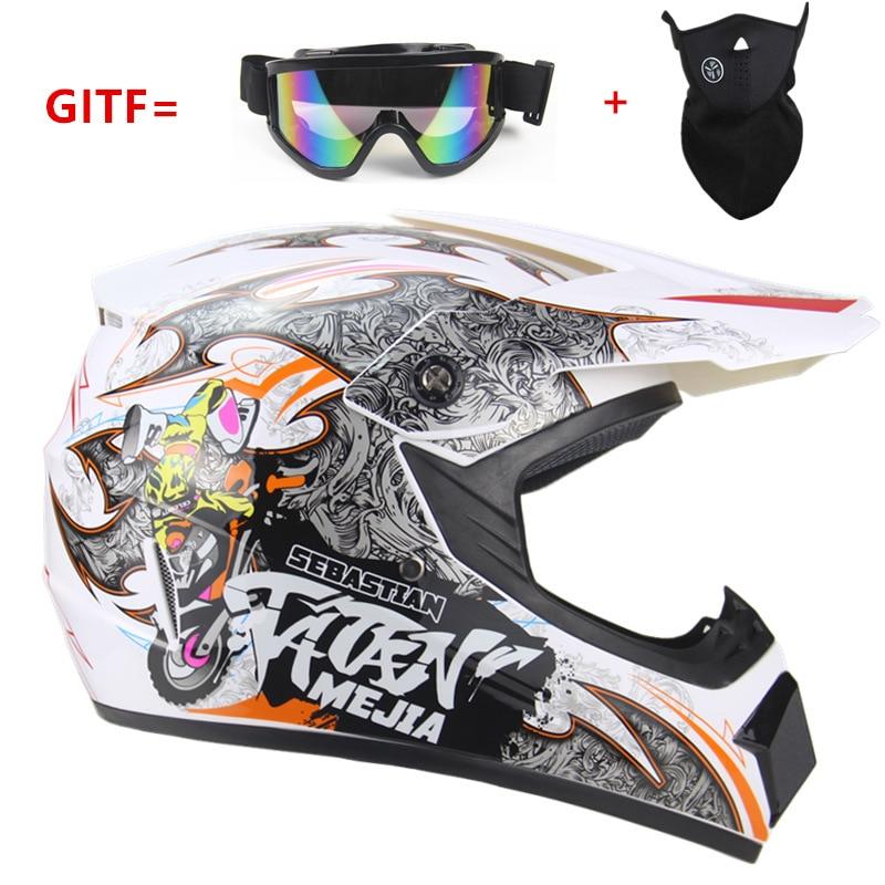Free shipping Top ABS rmotorcycle  Helmet Classic bicycle MTB DH racing helmet motocross downhill bike helmet Goggle As Gift