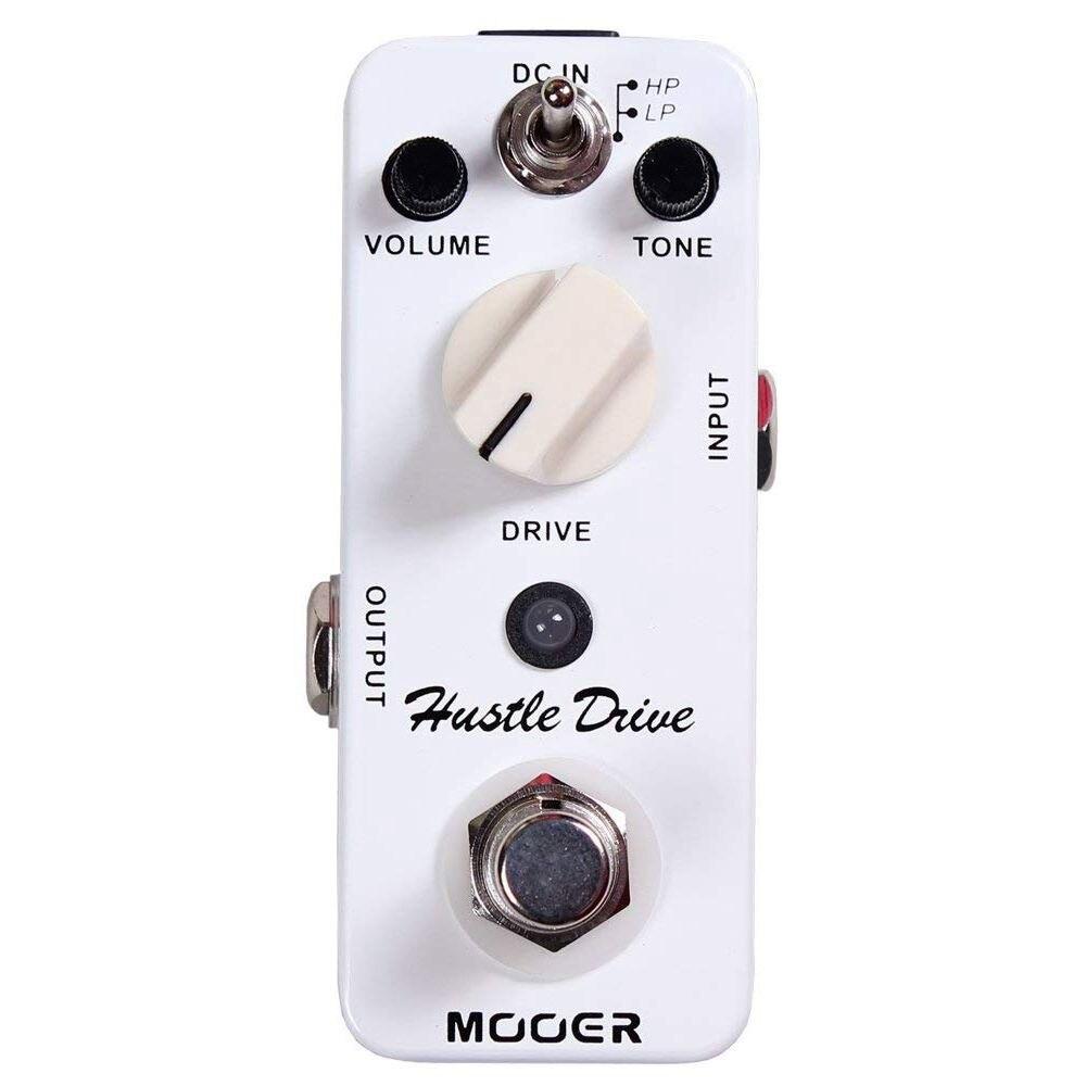 BMDT-MOOER Mini Hustle Dur Distorsion Effet Guitare Pédale en forme de Tube Drive Son Guitare Pédale Compact