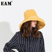 EAM  2019 Moda de Todos Os Jogos Das Mulheres Chapéus Casual Chapéus de Sol  Chapéu Protetor Solar Dobrável Estilo Japonês Corea. 3d9ee3ac325