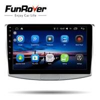 Funrover 2 din 10.1 Android 8.0 Car dvd player for Volkswagen VW Passat B6 B7 CC Magotan 2011 2015 radio GPS navigation wifi BT