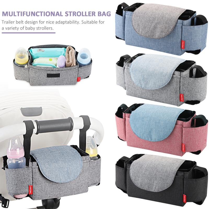 Multifunctional Baby Stroller Bag Hanging Storage Pack Portable Bottle Bags Whole Sale