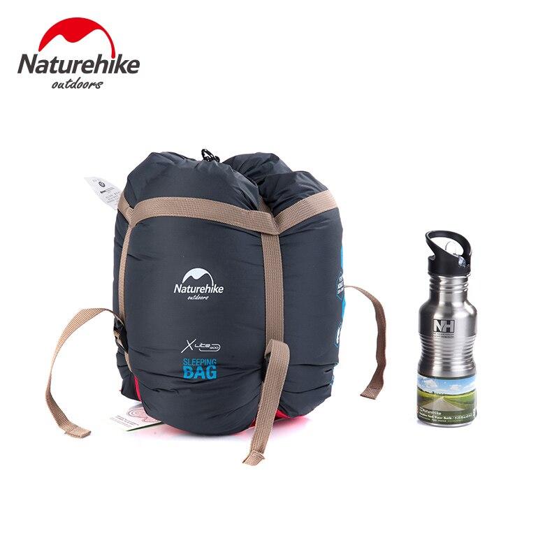 NatureHike цена от 0 до 5 градусов зимний Мумия спальный мешок для кемпинга Пешие прогулки путешествия может быть молнии вместе - 6