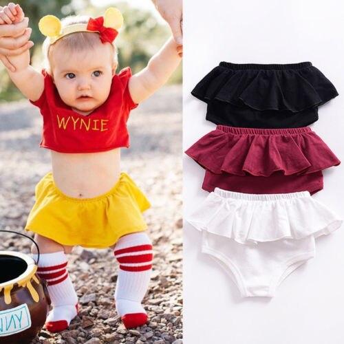 100% Wahr Kleinkind Kinder Bloomer Abdeckung Slip Infant Mädchen Kurze Tägliche Hosen Kleidung Neugeborenen Baby Mädchen Rüschen Höschen Böden