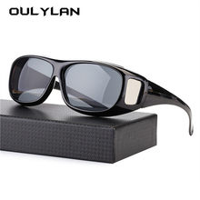 9cfa5f1614 Oulylan HD Vision Over Wrap Arounds Glasses Men Safety Night Driving Glasses  Driver HD Goggles Eyeglasses Anti Glare UV400 Male