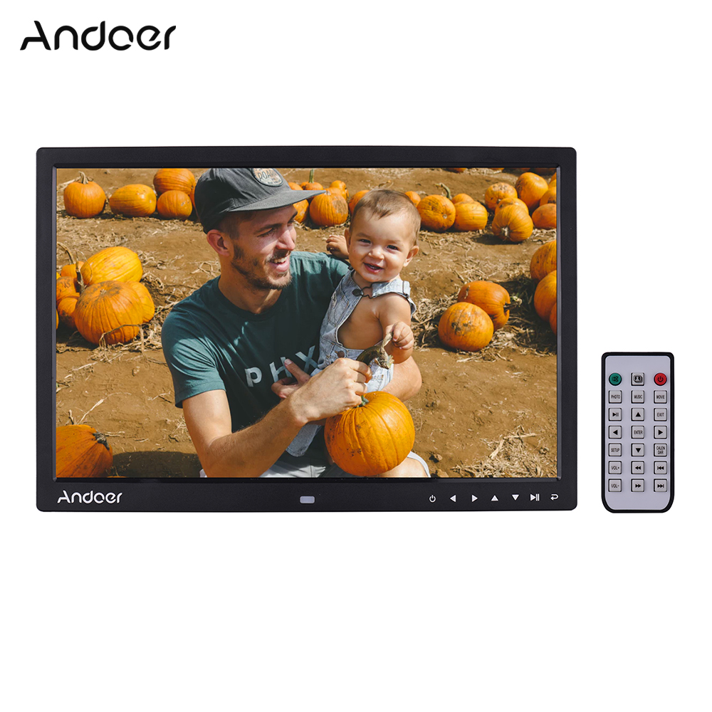 Andoer Upgraded 17 Inch LED Digital Photo Frame Electronic Picture Photo Album 1080P 1440 900 High