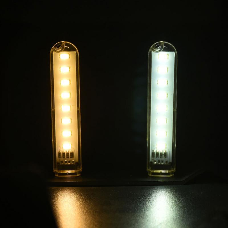 Beliebte Marke 1 Stücke Tragbare Nacht Usb Gadget Beleuchtung Mini Dc 5 V 8 Led Camping Computer Mobile Power Usb Led Lampe Für Pc Laptop