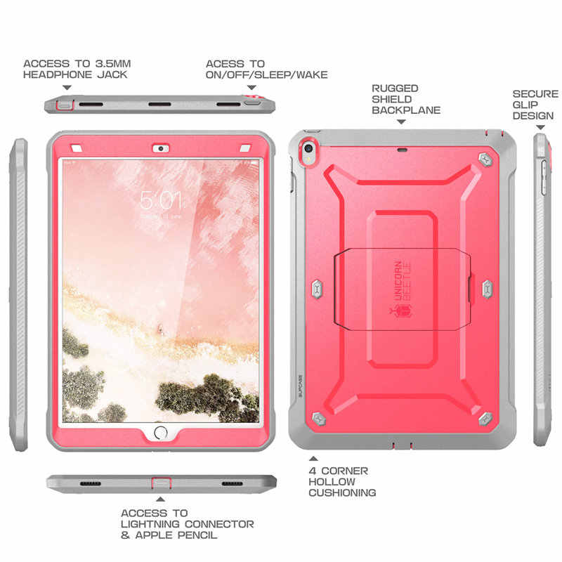 newest collection d5bb6 d26ff SUPCASE For iPad Air 3 10.5, For ipad Pro 10.5 Case 2017 UB PRO Heavy Duty  Full-body Rugged Case with Built-in Screen Protector