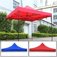 Waterproof Sun Shade Pop Up Garden Tent Gazebo Canopy Outdoor Marquee Market Shade Party Beach Blue/Red Tent 3m*3m no Shelf